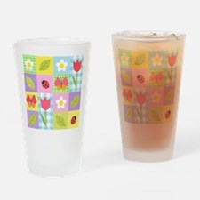 Colorful Patchwork Drinking Glass