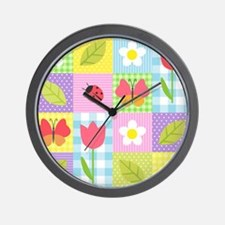 Colorful Patchwork Wall Clock