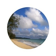 "Waimanalo Beach 3.5"" Button"