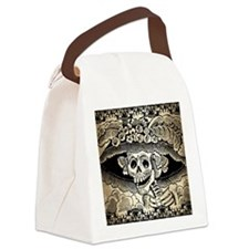 Vintage Catrina Calavera Canvas Lunch Bag