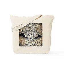 Vintage Catrina Calavera Tote Bag