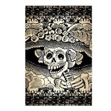 Vintage Catrina Calavera Postcards (Package of 8)