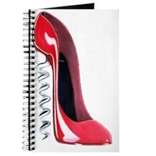 Corkscrew red stiletto shoe Journal