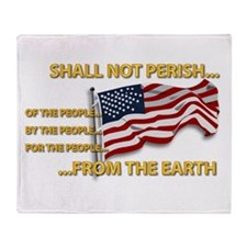 USA - Shall Not Perish Throw Blanket