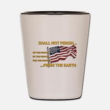 USA - Shall Not Perish Shot Glass