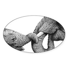 African Elephants Hitch Cover Decal