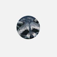 Cute Raccoon Mini Button