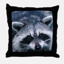 Cute Raccoon Throw Pillow