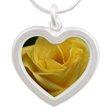 The Yellow Rose Silver Heart Necklace