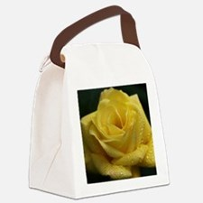 The Yellow Rose Canvas Lunch Bag