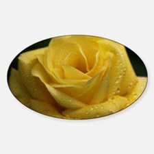 The Yellow Rose Sticker (Oval)