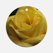 The Yellow Rose Round Ornament