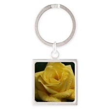 The Yellow Rose Square Keychain