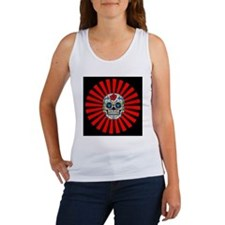 Vintage_Chick Skull Sunburst Women's Tank Top