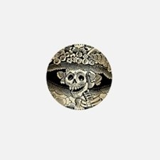 Vintage Catrina Calavera Mini Button
