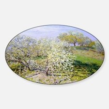 Monet Apple Trees Sticker (Oval)