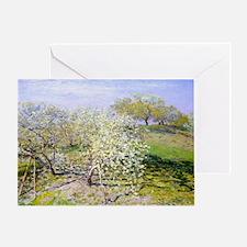 Monet Apple Trees Greeting Card