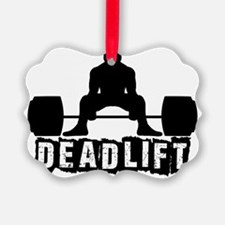Deadlift Black Ornament