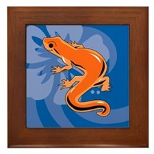 Newt Round Car Magnet Framed Tile