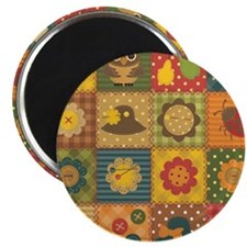 Country Patchwork Magnet