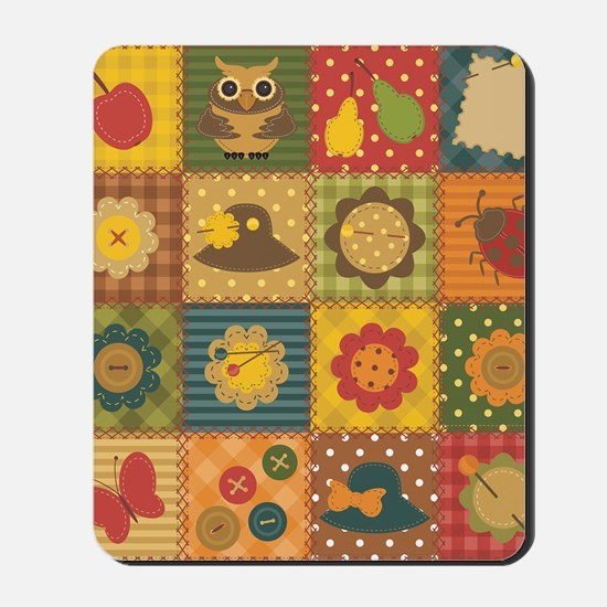 Country Patchwork Mousepad
