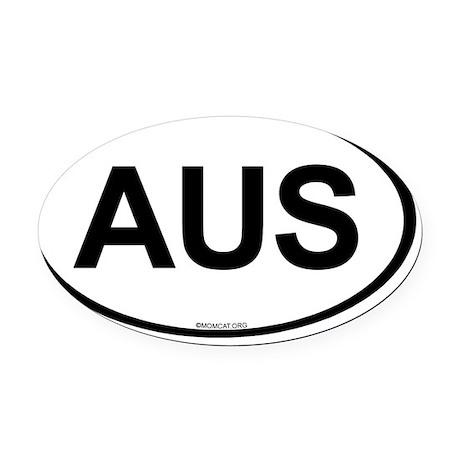 OvalAustralia Oval Car Magnet