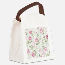 Beautiful Floral Pattern Canvas Lunch Bag