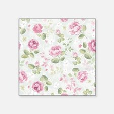 "Beautiful Floral Pattern Square Sticker 3"" x 3"""