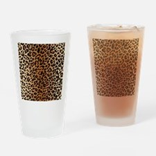 Leopard Print Drinking Glass
