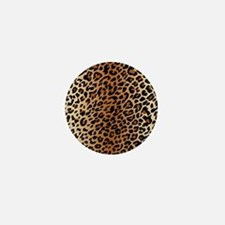 Leopard Print Mini Button