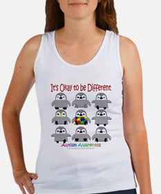 Autism Awareness Penguins Tank Top