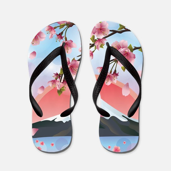 Japanese Landscape Flip Flops
