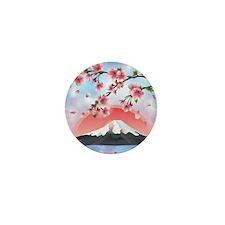Japanese Landscape Mini Button