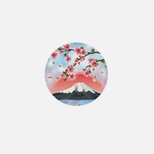 Japanese Landscape Mini Button