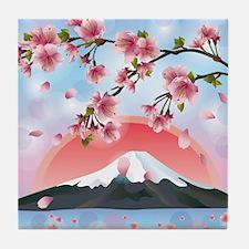 Japanese Landscape Tile Coaster