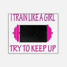 train like a girl v neck Picture Frame