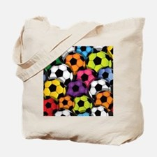 Colorful Soccer Balls Tote Bag
