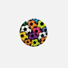 Colorful Soccer Balls Mini Button