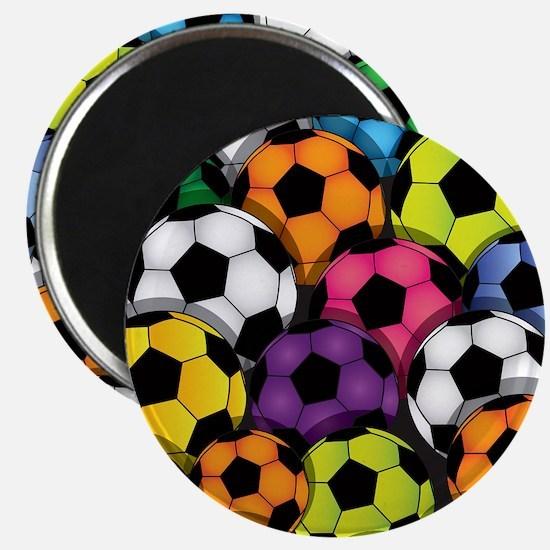 Colorful Soccer Balls Magnet