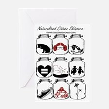Naturalized Citizen Jars Greeting Card