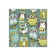 """Cute Owls Square Sticker 3"""" x 3"""""""