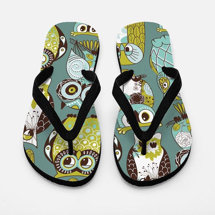 Cute Owls Flip Flops