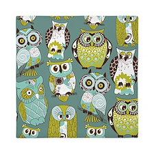 Cute Owls Queen Duvet