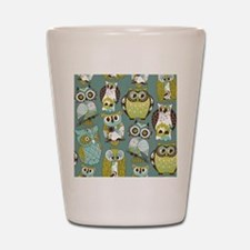 Cute Owls Shot Glass
