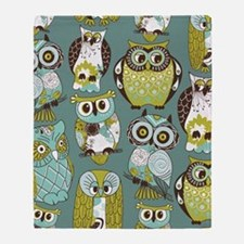 Cute Owls Throw Blanket