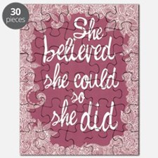 She Believed She Could Puzzle