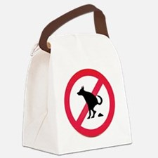 No pooping Canvas Lunch Bag