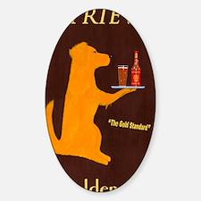 Retriever Golden Ale Sticker (Oval)