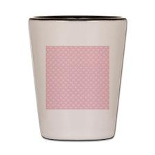 Pink Damask Victorian Floral Design Shot Glass