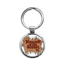 brick91 Round Keychain